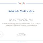 Henrik Constantin Obel, Google cerified partner